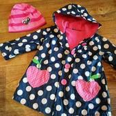 классная деми курточка George + шапочка в подарок