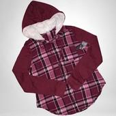 Скоро весна!Модная комбинированная рубашка фланель фирма no bo размер на выбор!
