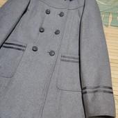 Двубортное пальто новое 10-13л
