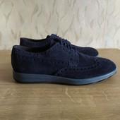 Кожаные туфли броги дорогого итальянского бренда Ferri р.41, 27.8см