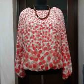 Блуза бомбезная из шифона на трикотажной подкладке