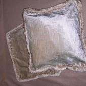 Декоративная велюровая бархатная наволочка размер 41/37