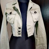 Пиджак джинс, короткий, сток, 38 евро размер