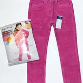 Вельветовые штаны для девочек на весну, есть утяжка, размеры 104/110, 116/122