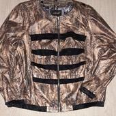 Супер стильная куртка кож.зам 50-54р