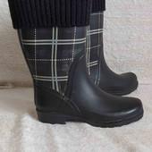 Модні резинові чоботи-гумаки р. 36