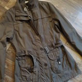 Удлиненная фирменная демисезонная куртка