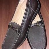 Туфли кожаные мокасины