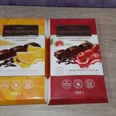 """Шоколад """"Коммунарка"""" горький десертный с вишневым/апельсиновым соком, Беларусь 200 г."""