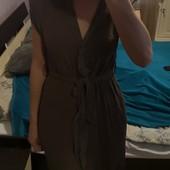 Платье - халат Zara.. P. Xs, s цвет хаки