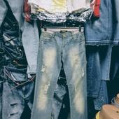 Новые турецкие джинсы, поб 45 см, пот 35 см. Ликвидация товара