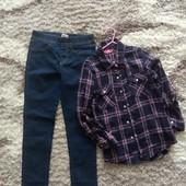 Лот для дівчинки 10років,нові джинси.