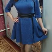 нарядное платье люрекс 46-48размер