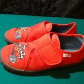 Красные тапочки-мокасины SuperFit, разм. 31 (19,5 см внутри). В идеале! Как новые!