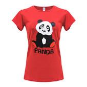 """Женская футболка """"Panda"""" красная"""