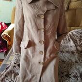 Шерстяное демисезонное пальто Favoriti, размер 52