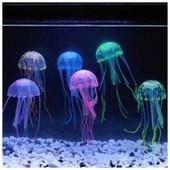 одна на выбор из наличия. декор в аквариум - флуорисцентная медуза.