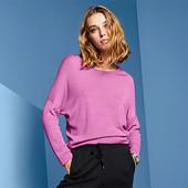 Пуловер оверсайз из нежного трикотажа с рукавами кимоно Tchibo (германия) размер 44 евро=50-52