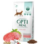 Корм Optimeal Cat Adult Sterilised говядига 4 кг доставка бесплатно