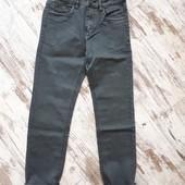 Брюки джинсы плотный коттон серый джинс. Зауженная модель 101/74см р29