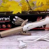 Утюжок выпрямитель плойка для укладки волос гофре 4 в 1 Gemei GM-2962