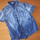 F&F рубашка из тонкого джинса на 5-6лет, на рост 116