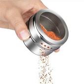 Баночка для специй из нержавеющей стали с магнитом.