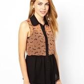 ☘ Лот 1 шт ☘ Блуза без рукавів з легкої тканини Sugarhill Boutique (Англія), рр. наш 46-48: М євро