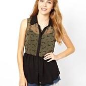 ☘ Лот 1 шт ☘ Блуза без рукавів з легкої тканини Sugarhill Boutique (Англія), рр. наш 48: L євро