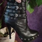 Ботинки кожаные, р.39 Италия. Бомбезные!!!