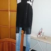Джинсы (узкие) +блузка +рубашка, р. 44-46