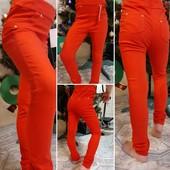 Подростковые брюки лосины для худенькой девочки р 140, отлично в школу