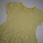 Отличное жёлтое платье george на 3-4 года, рост 98-104 см