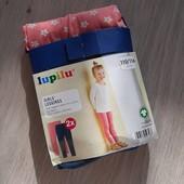 Комплект леггинсов для девочки Lupilu, Германия. Размер 110-116