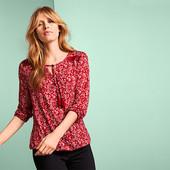 Комфортная блуза из вискозы от Tchibo Германия размер евро 40/42 (укр 46/48)