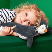 """Мягкая плюшевая подушка -игрушка """"Пингвин"""" с пижамным отделением от Tchibo (германия)"""