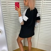 Стильне трикотажне плаття оверсайз 42-44