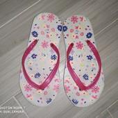 Шлепки пляжные для девочки замеры на фото