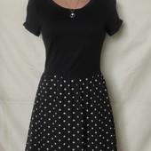 Лёгенькое комбинированное платье,xs/s