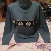 Шикарный серый под горло тёплый стречь свитерок.Шерсть.Акрил.Enzo.xxl,3xl,4xl. Лотов много