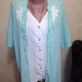 Красивая блузочка обманка 18 размера.