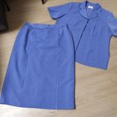 Классический фирменный костюм для пышных дам р.22. Elvi.