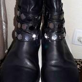 Кожаные демисезонные ботинки. Размер 40