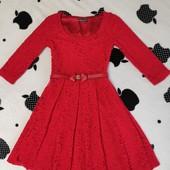 Красивое гипюровое платье, состояние нового, размер S-M