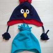 2 шапочки флисовые на 3-6 лет в очень хорошем состоянии