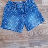 Джинсовые шорты для девочек на рост 110-116