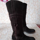 Шкіра замш гарні чобіткі бренда Mex,р 40 ст 26.5 см