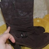 Шикарные кожаные демисезонные сапоги eks 38 (24,7 см)
