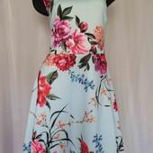 платье с цветами -неопрен