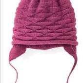 Теплая вязанная шапочка на флисе от Lupilu, размер указан 74/80 можно больше